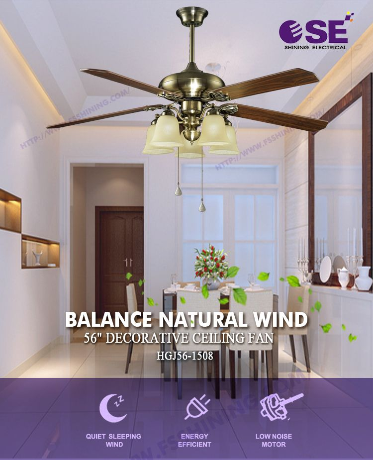 56 inch electronic recoverable high powerful decorative ceiling ...