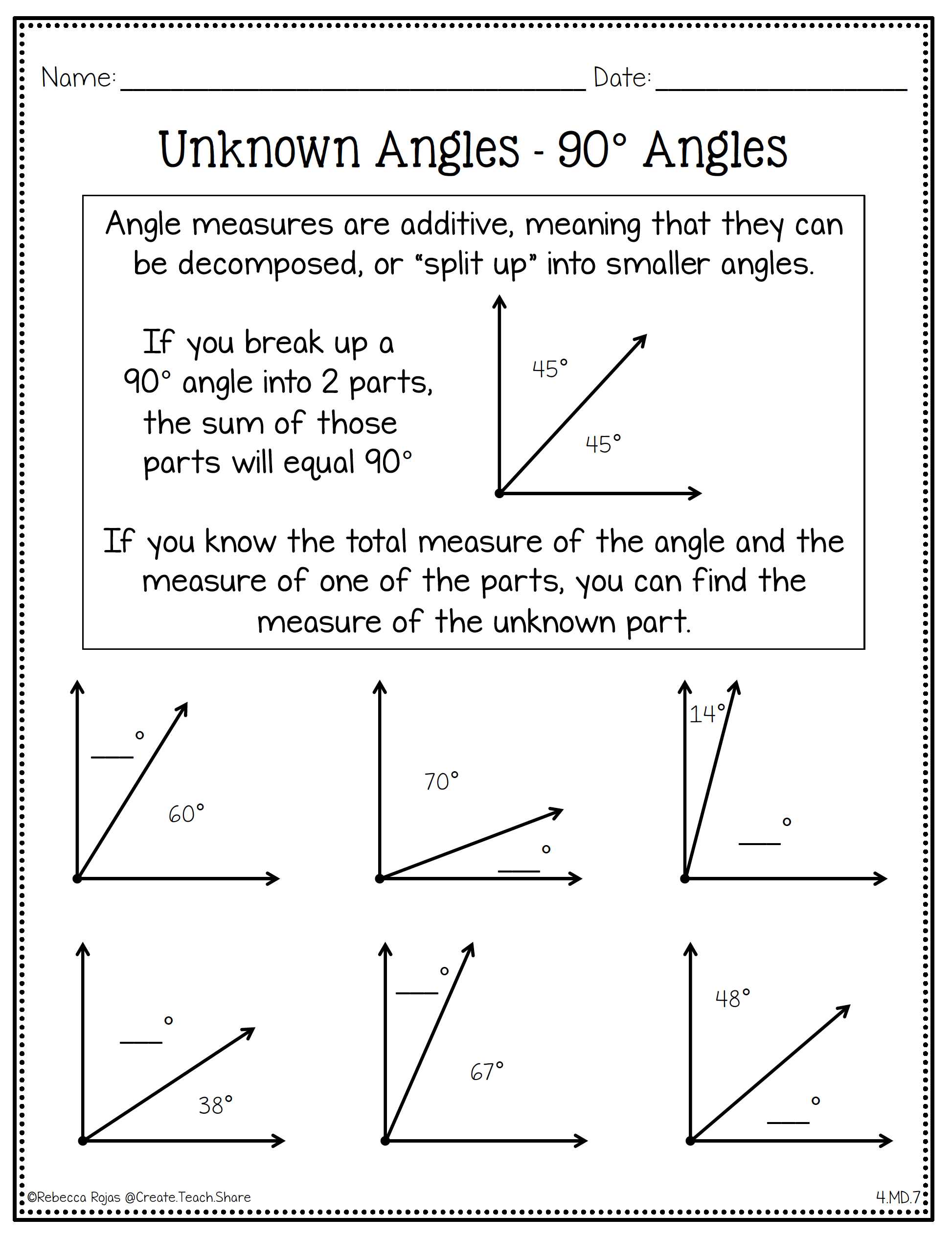 Measurement Amp Geometry Printables With Images