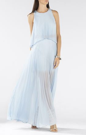 Bcbg Powder Blue Maxi Dress