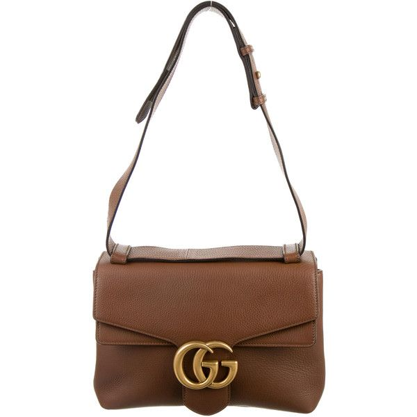 Pre-owned Gucci GG Marmont Messenger ($1,695) ❤ liked on Polyvore featuring men's fashion, men's bags, men's messenger bags, neutrals, mens messenger bags, mens courier bag, gucci mens messenger bag and mens leather messenger bag
