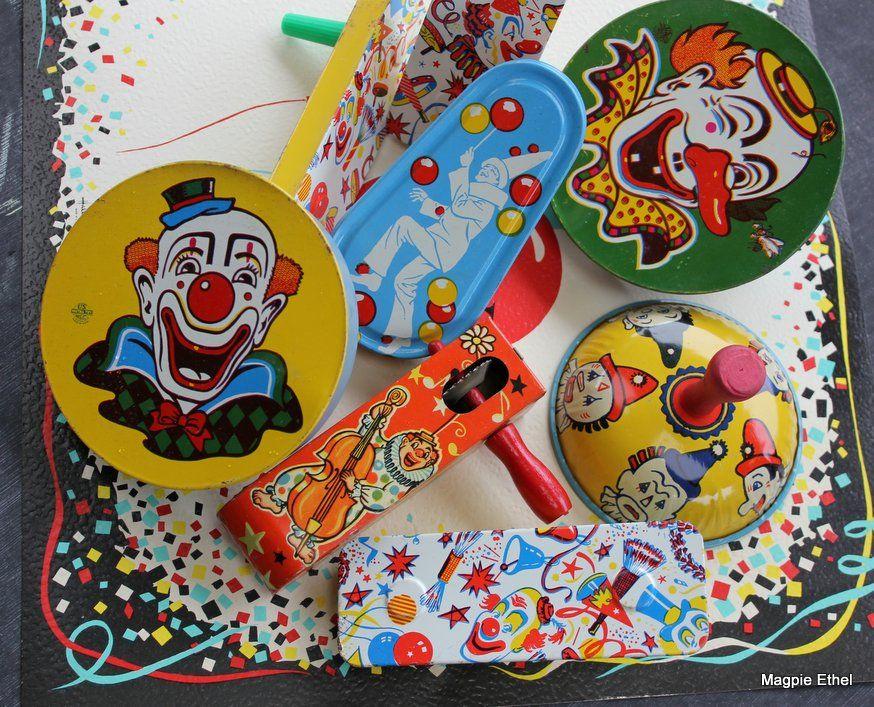 vintage noisemakers Retro birthday parties, Vintage