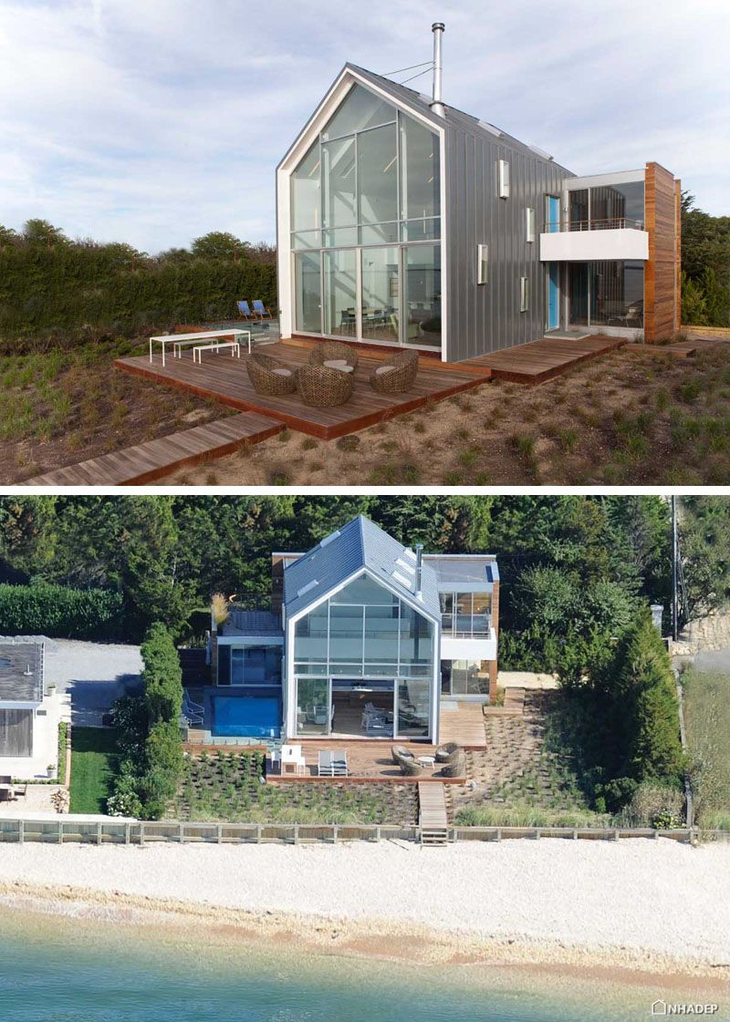 14 Examples Of Modern Beach Houses From Around The World Beach House Design Modern Beach House Beach House Exterior