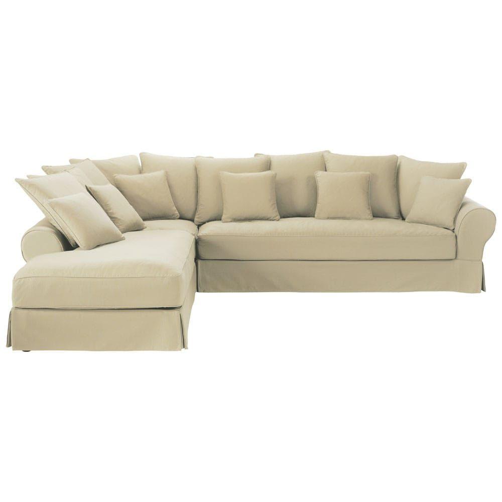 Divano Ad Angolo 6 Posti.Divano Ad Angolo Sinistro Color Mastice In Cotone 6 Posti Sofa