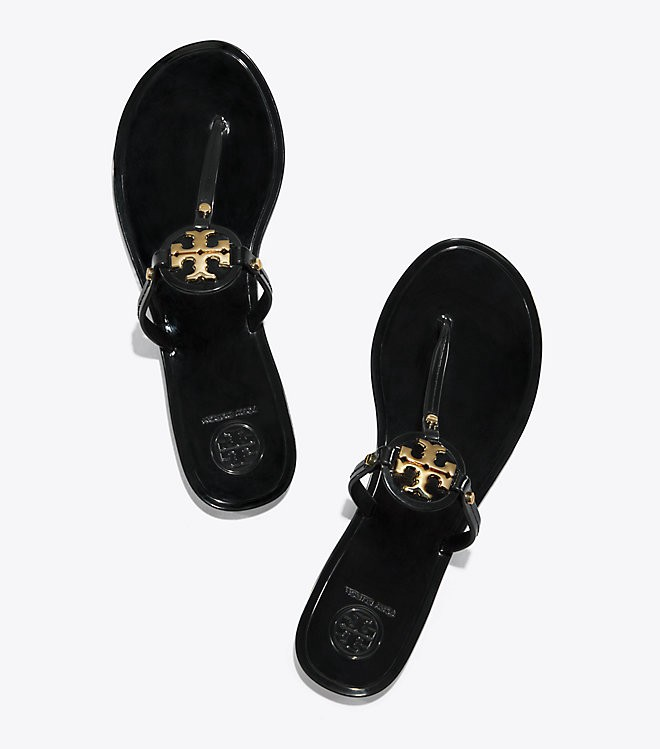 f9489e9b2fcb32 Tory Burch Mini Miller Jelly Thong Sandal - Black 11
