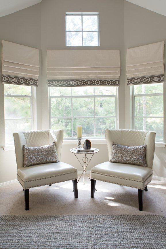 Amanda Carol Interiors Chester Springs Flat Roman Shade Home Room #shades #for #living #room #windows
