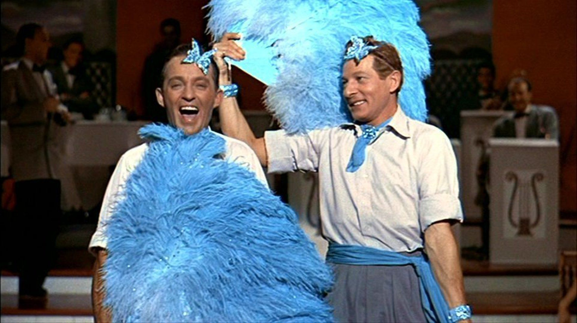 """""""White Christmas"""" DVD screen capture, 1954. L to R Bing"""