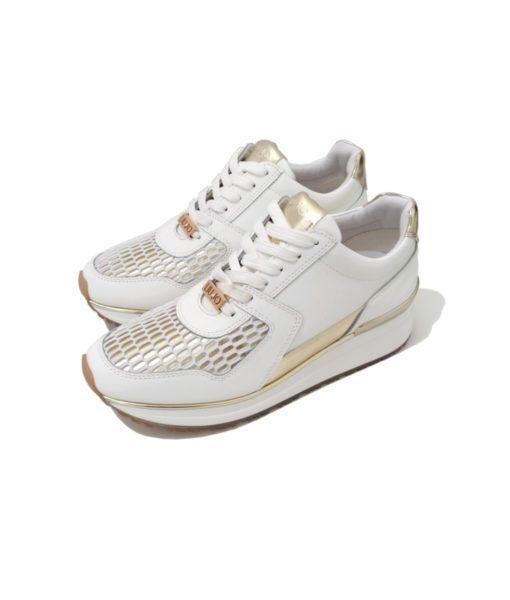 bbb46d8f6bda cool Tendance Basket 2017 - sneakers compensés blancs or liu jo pour femme.  style sport