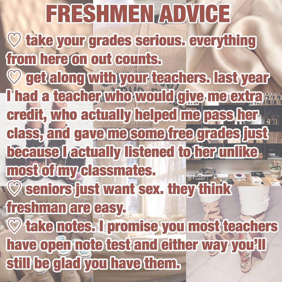 tips for highschool freshman