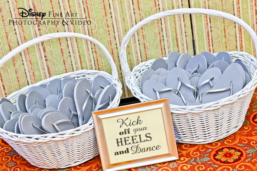 Flip Flops Are A Great Favor, Allowing Guests To Be More