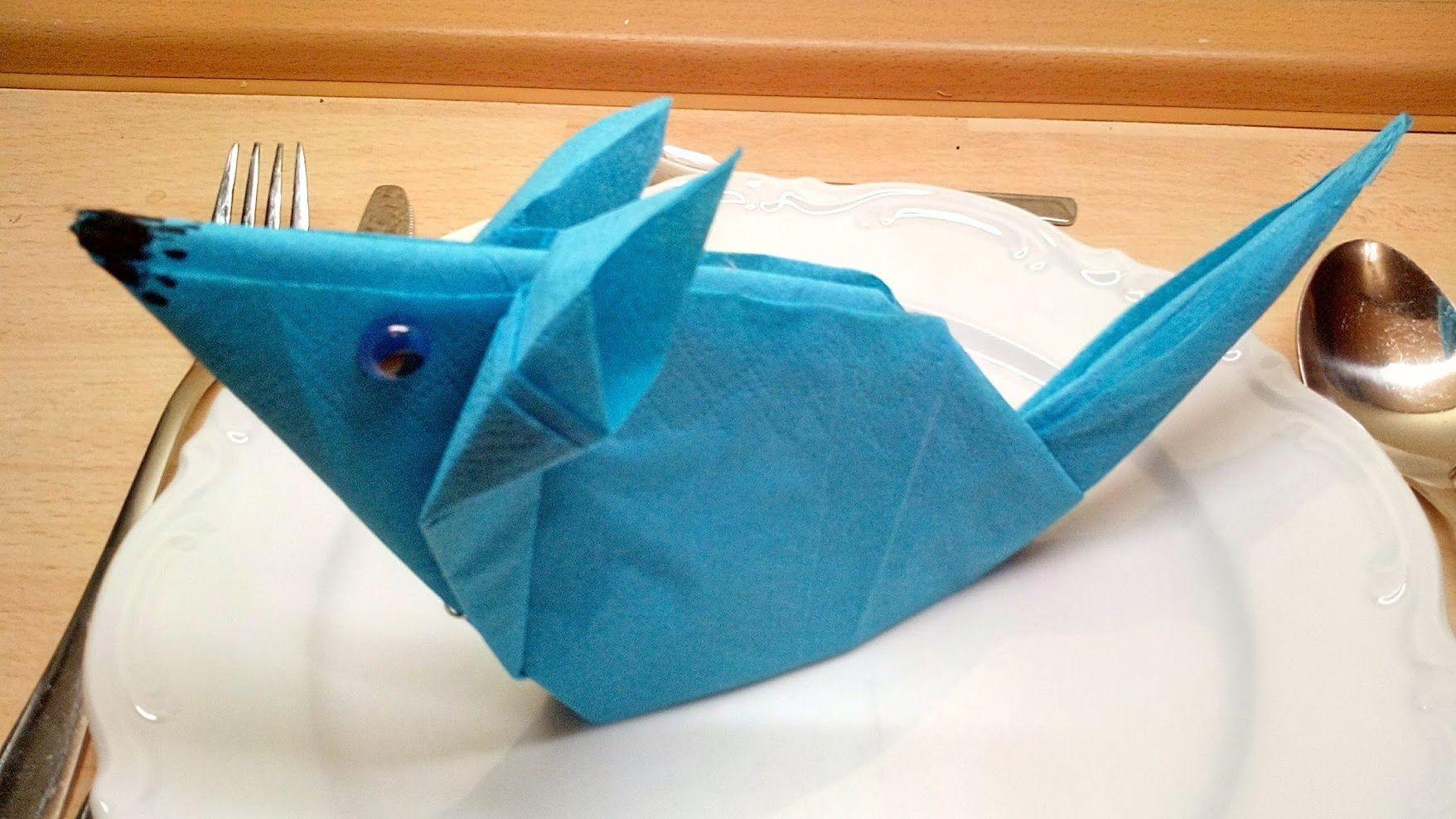 Palme - Deko falten ( photographed napkin folding instructions for ...