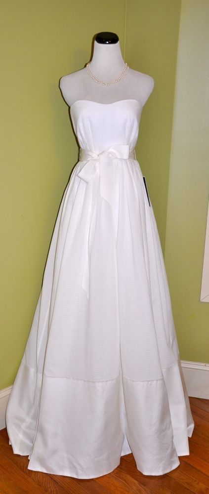 1f0e74e5cada J Crew Corliss Gown 10 Wedding Dress  1500 NWT Ivory Silk Gazar Strapless