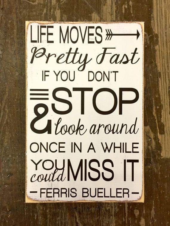 Ferris Bueller's Day Off hand painted wood sign