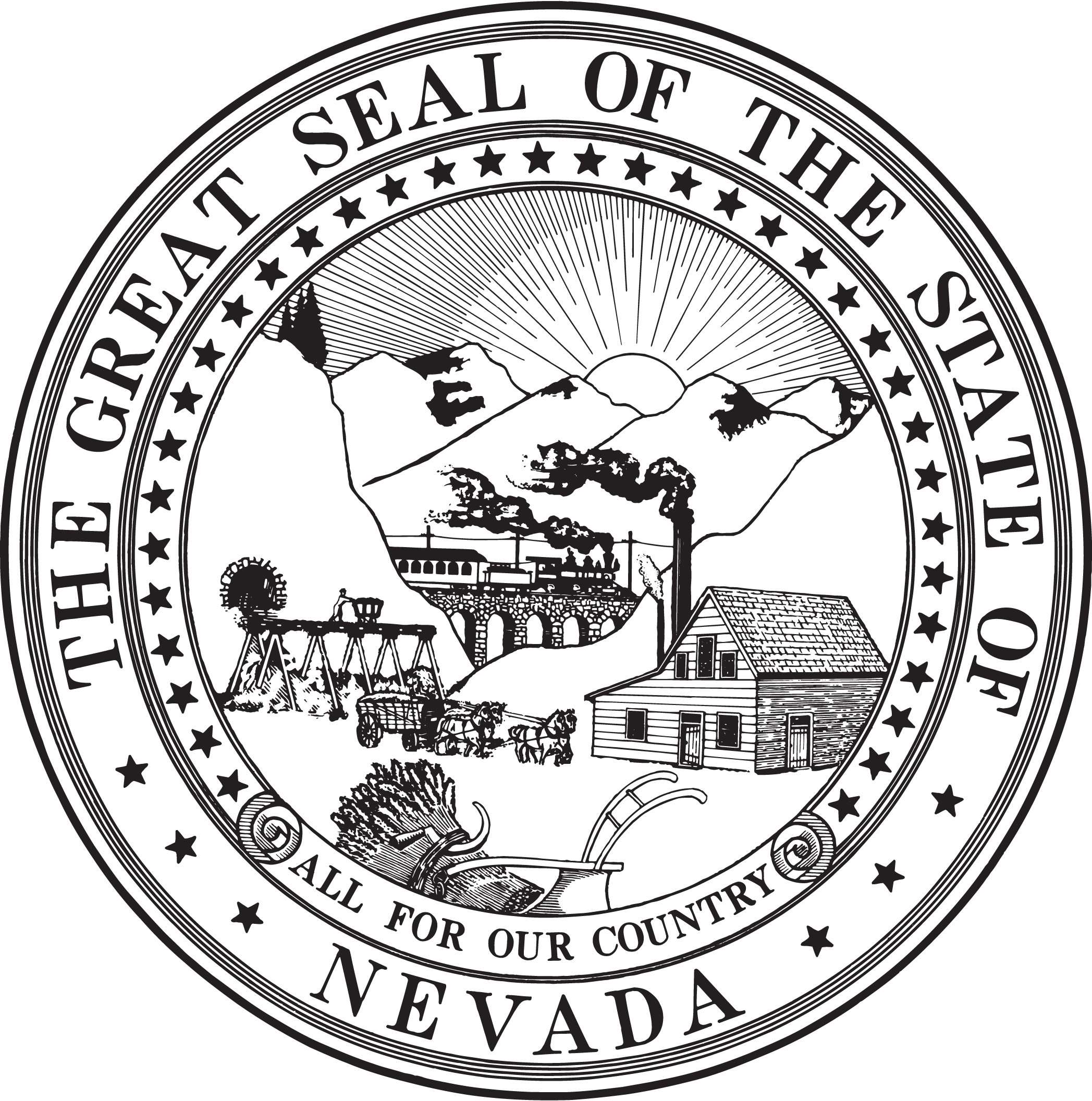 State Seal of Nevada | Home means Nevada... | Pinterest