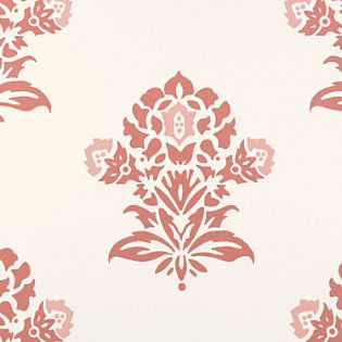 Serena and Lily Coral Jaipur fabric Paint upholstery