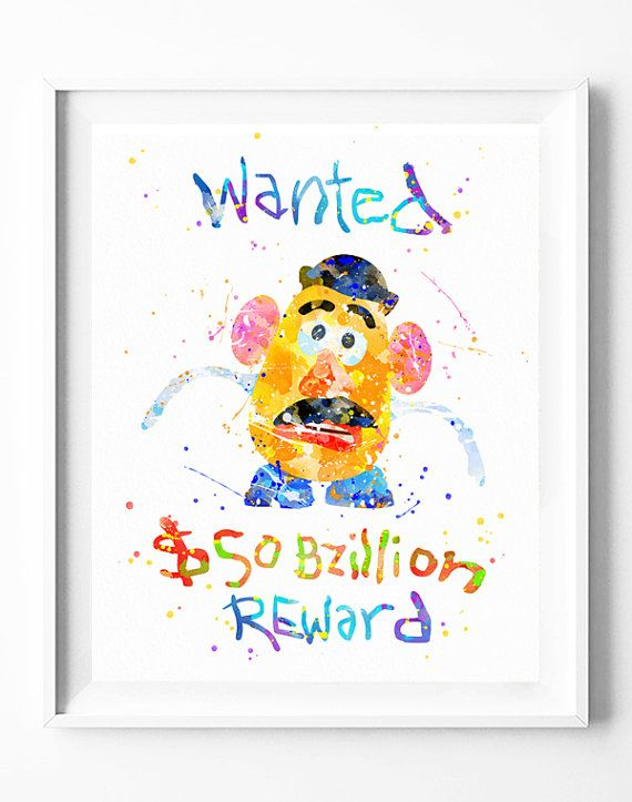 Disney Print, Toy Story, Mr Potato Head, Wanted Poster - printable wanted posters