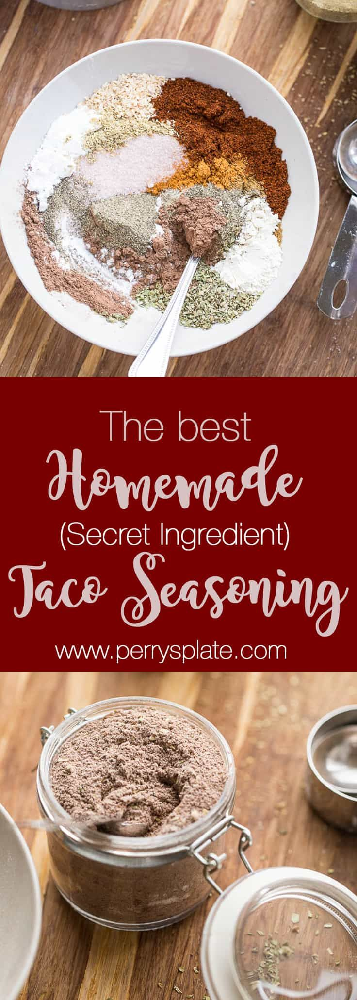 The Best Homemade Taco Seasoning. (with a SECRET ingredient!) - Perry's Plate