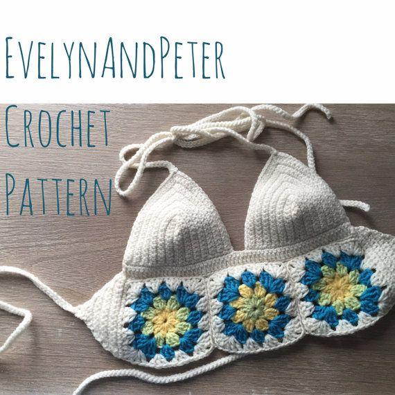 Festival Bralette Crochet Pattern Boho Festival By Evelynandpeter