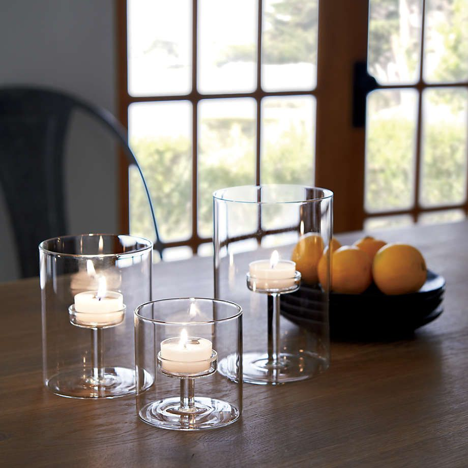 Elsa Small Glass Tealight Candle Holder Reviews Crate And Barrel Tealight Candle Holders Tea Light Candles Glass Candle