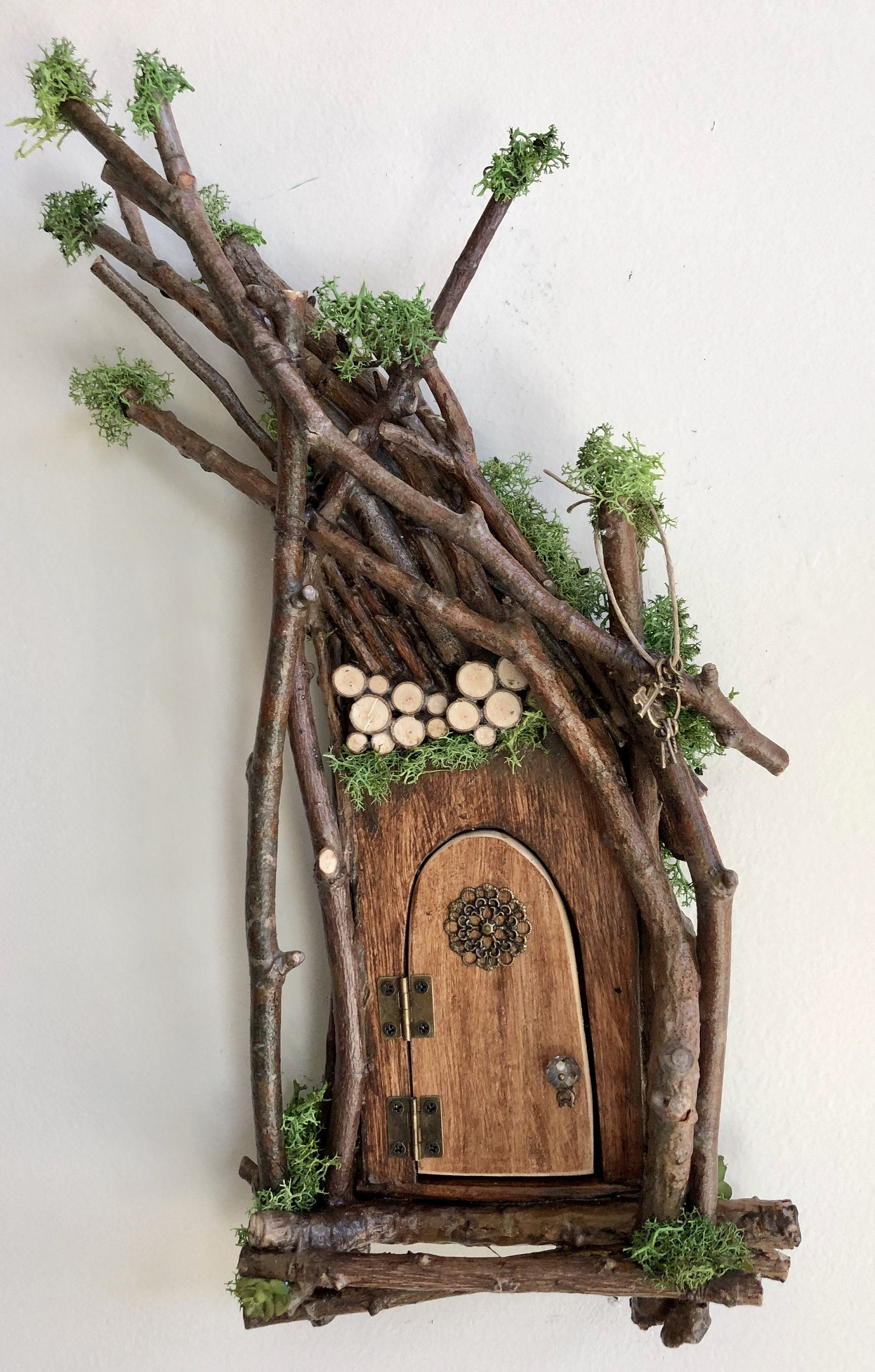 Fairy Door Each One Of A Kind Handcrafted By Olive Fairy Accessories Fairy Door That Opens Sealed For Diy Fairy Door Fairy Garden Crafts Fairy House Diy