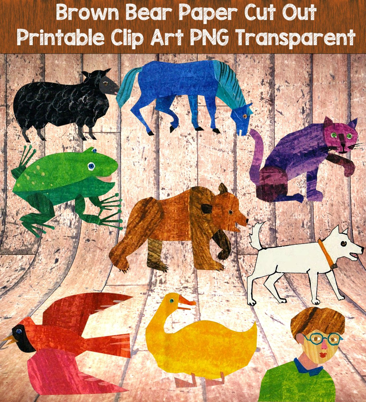 Brown Bear Brown Bear Printables Transparent Clip Art