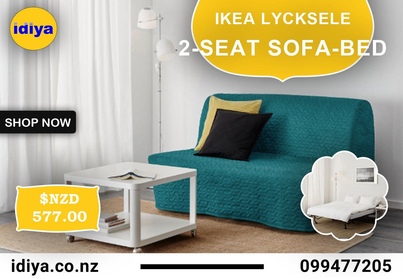 Ikea Lycksele Lavas Two Seat Sofa Bed Vallarum Turquoise In Auckland Nz Idiya Ltd Sofa Bed Frame Sofa Bed Drawing Room Furniture [ 900 x 1300 Pixel ]