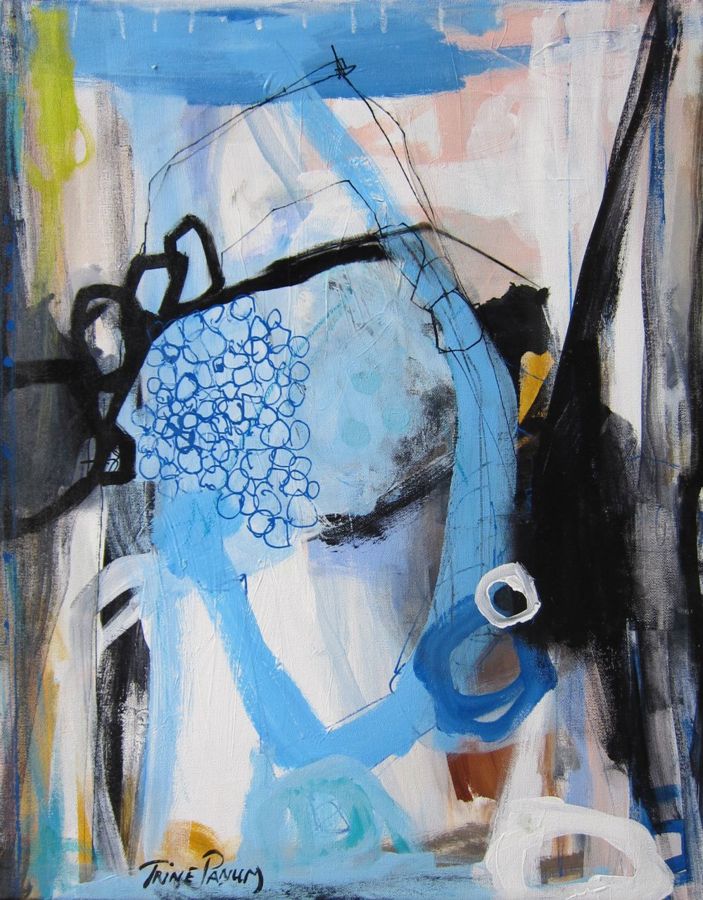 Malerier på lærred - www.trinepanum.dk  Abstract  Pinterest  Abstrakte, abstrakte Kunst und ...