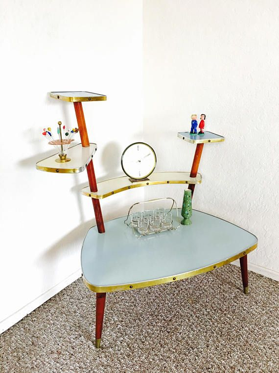 Atomic Plant Stand Table Rockabilly Mid Century Plant Table Flower