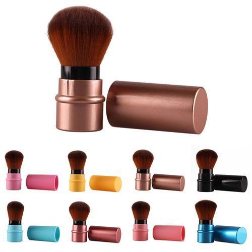 Fashion Retractable Blush Rouge Foundation Face Powder Cosmetic Makeup Brush – wie das Bild