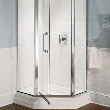 Town Square 38 X 38 Neo Angle Single Threshold Shower Base With