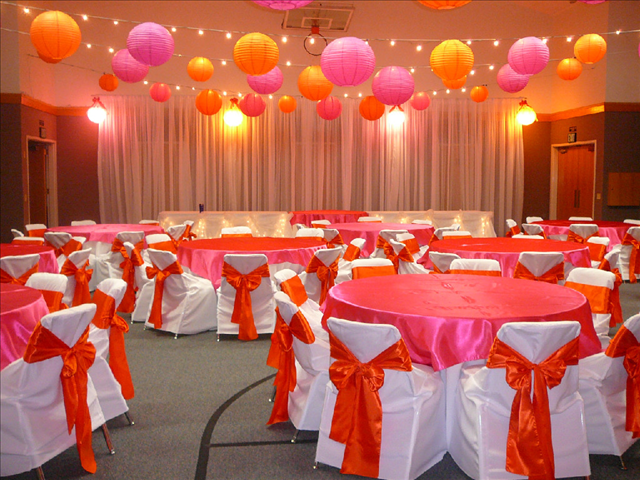 Tall Drape On One Wall, No Draping On Ceiling, Just Lights