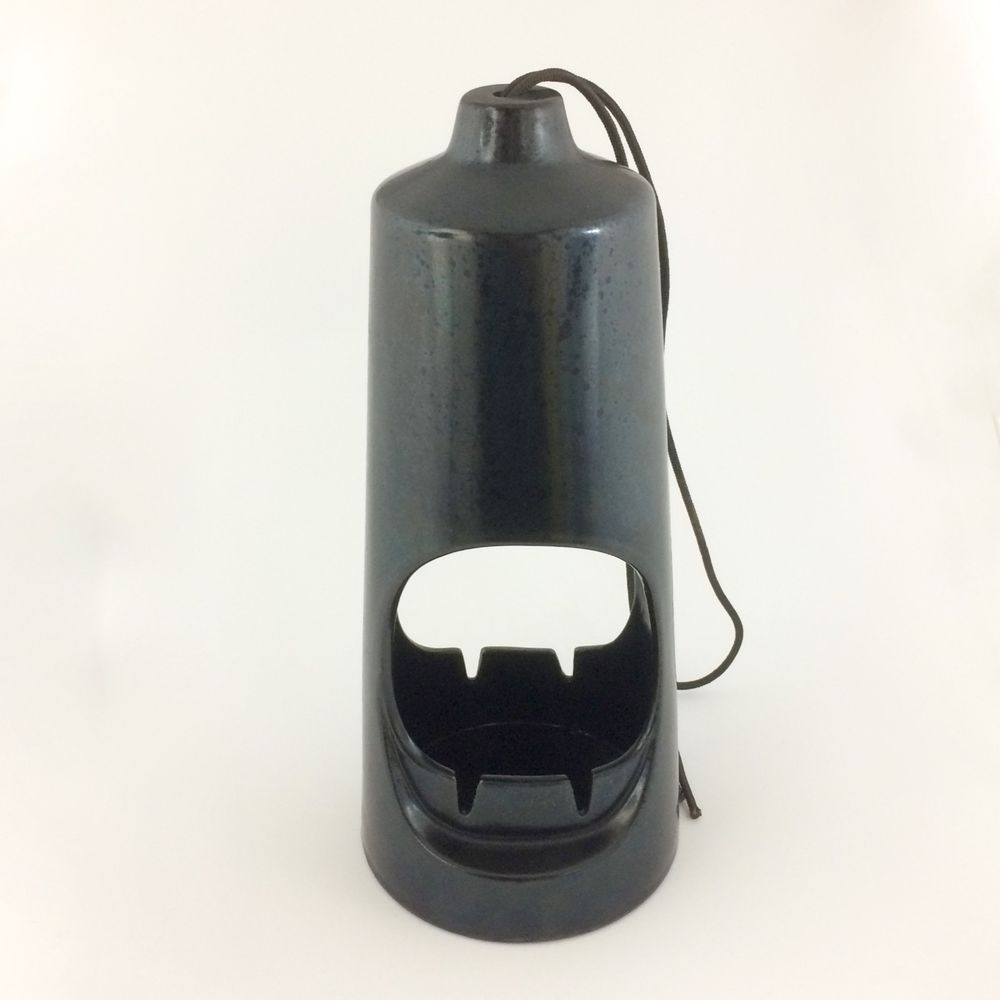 Nice Vintage Black Ceramic Ashtray by Hyalyn