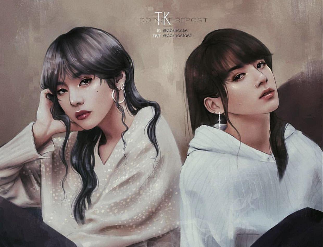 Pin by ĸoαlα on Kpop FanArts Bts girl, Bts fanart, Bts