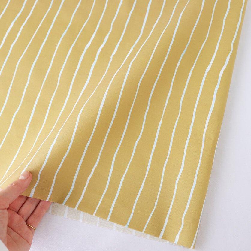 Line マスタード Nunocoto Fabric 2021 テキスタイル デザイン ストライプ模様 生地見本