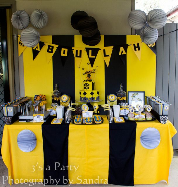 Birthday Party Ideas Transformers PartiesTransformer BirthdayBumble Bee