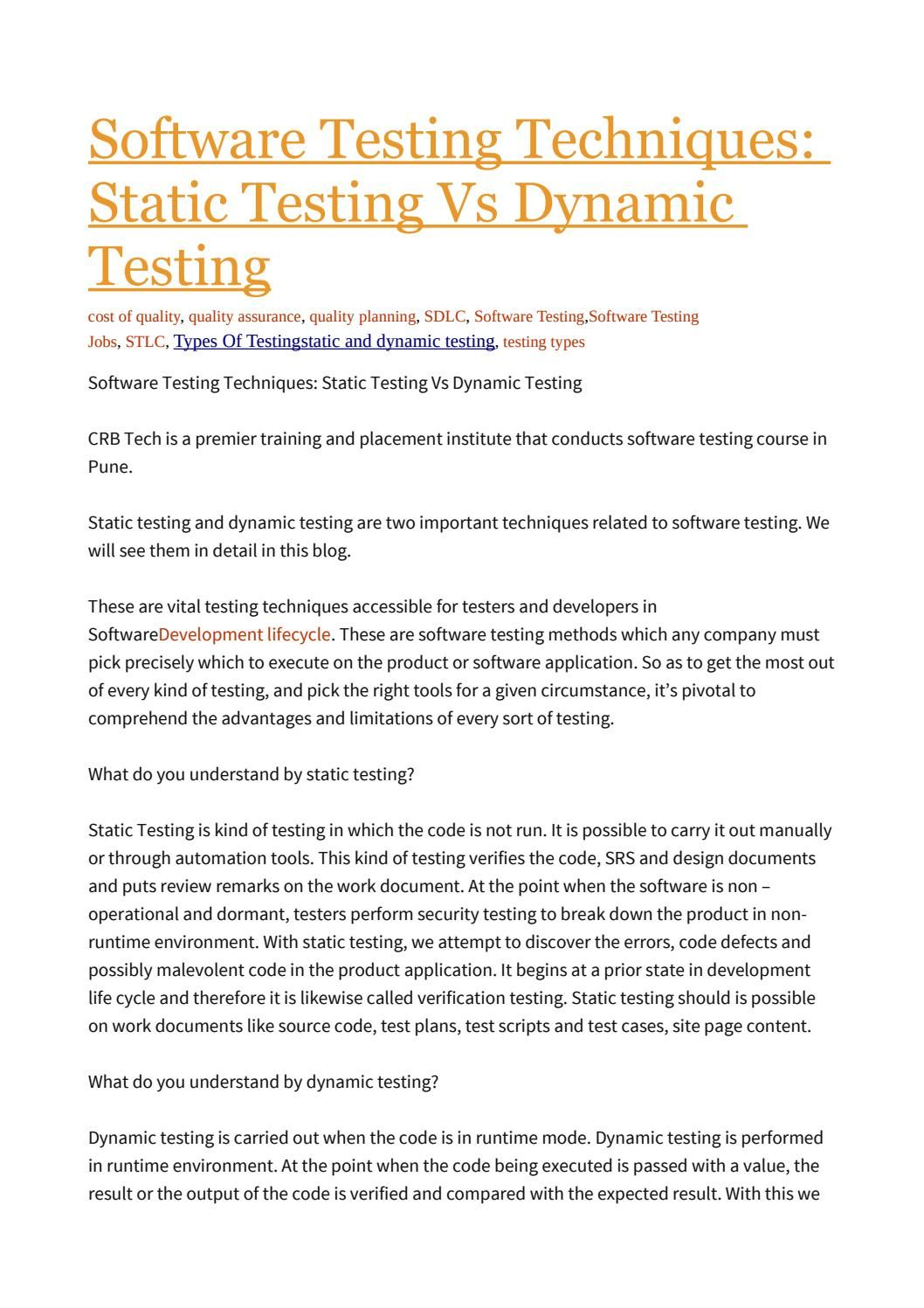 Software tests performed to ensure that the completed program ...