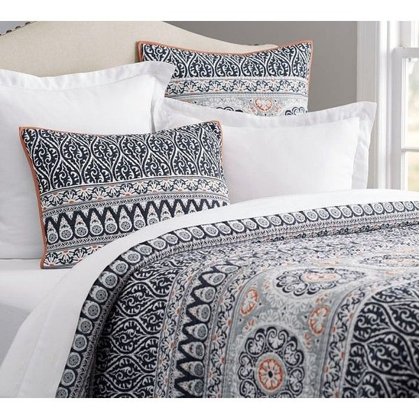 Pottery Barn Pia Medallion Quilt 199 Liked On Polyvore