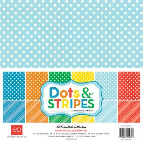 Echo Park - Dots and Stripes Collection - Summer - 12 x 12 Collection Kit at Scrapbook.com