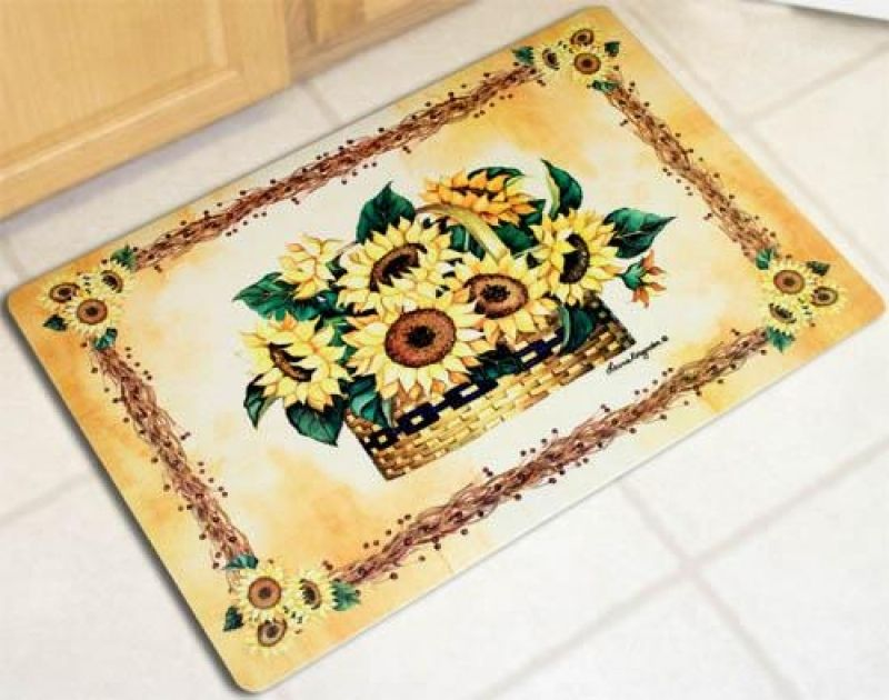 Sunflower Kitchen Rugs Good Quality Washable Captainwalt