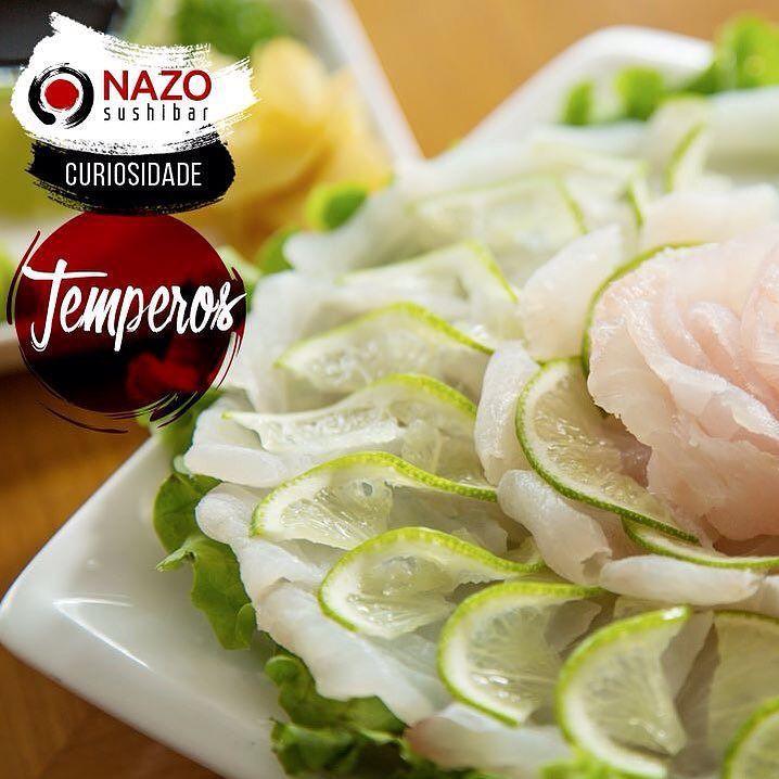 Você sabia? A comida japonesa é tipicamente agridoce. Os principais temperos são açúcar vinagre limão shoyu e gengibre. Vários pratos são temperados com molho shoyu vinagre e açúcar. Além destes os japoneses também consideram que o limão cozinha o peixe como no Ceviche ou no sashimi de peixe branco. O gengibre por sua vez é tido por eles como um antisséptico para os pratos ricos em carne crua. O Nazo Sushibar trabalha com comidas orientais e também está fazendo entregas! Acesse…