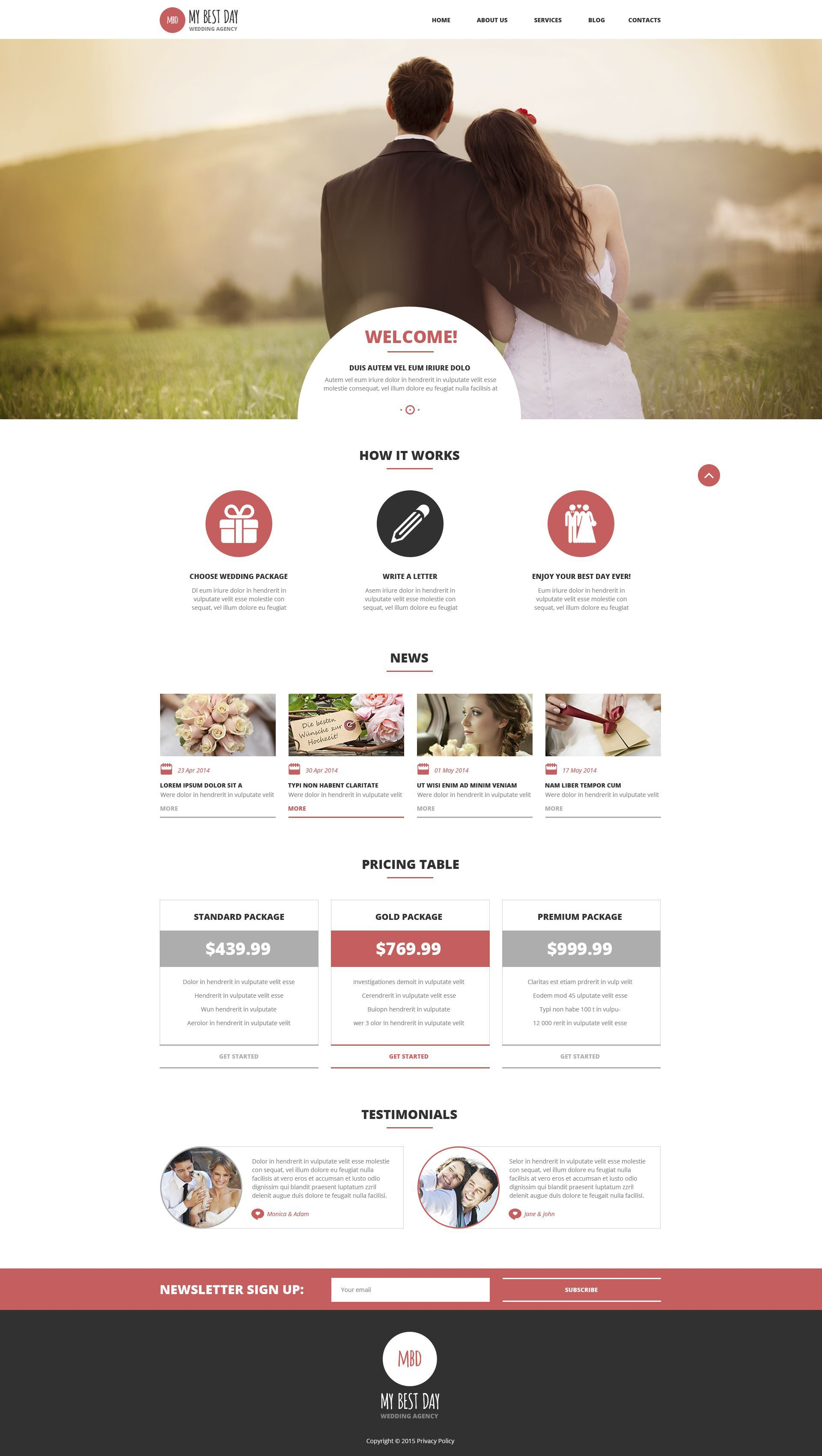 Wedding Planning Consultancy WordPress Theme WordPress