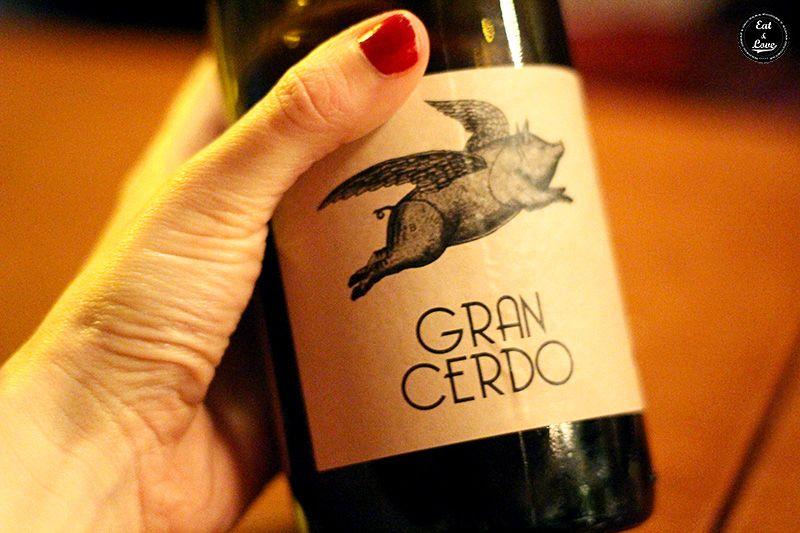 Vino Gran Cerdo Chifa restaurante Madrid