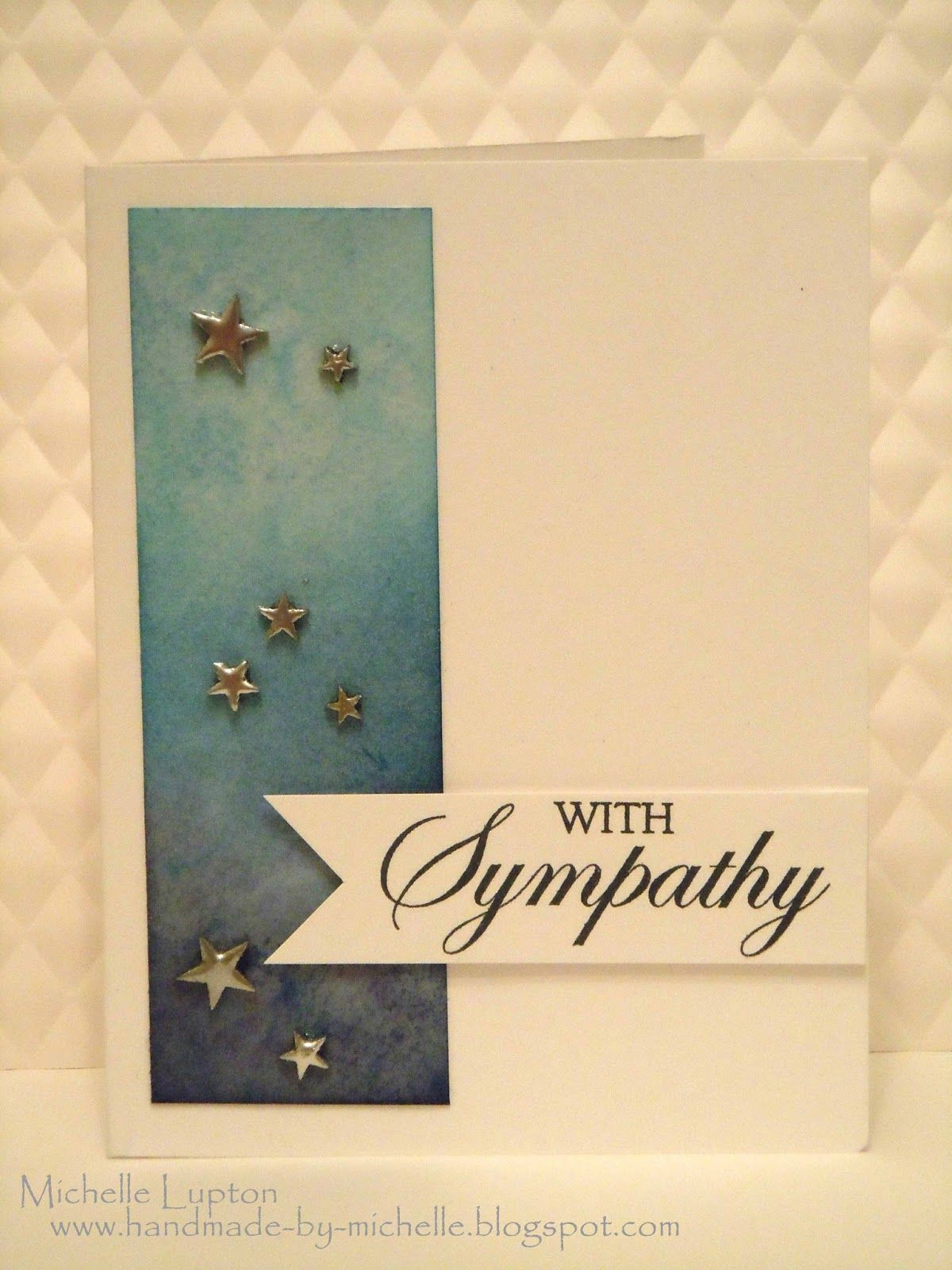 Sympathy Card Ideas To Make Part - 40: Handmade By Michelle: Sympathy Card