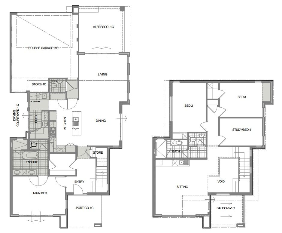 Bassendean   3036   Custom designed home on a narrow block   sketch. Bassendean   3036   Initial concept sketch plan for a custom