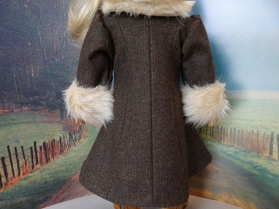 1930's wool coat and hat with fur trim for by ValorieoftheDolls