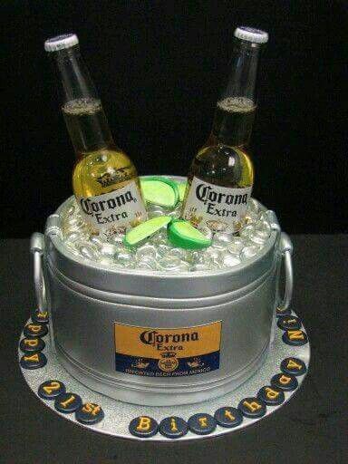 Pastel Cubeta Con Cerveza Corona Party Pinterest Cake Corona