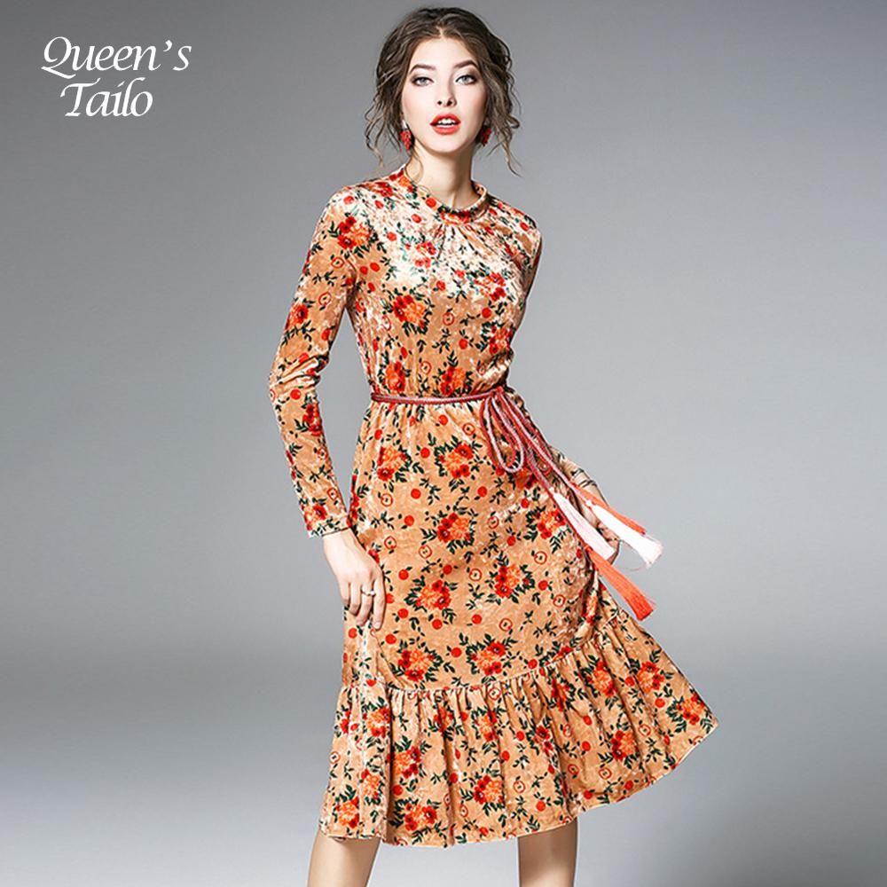 New woman spring new velevt dress elegant ladies party mermaid dress