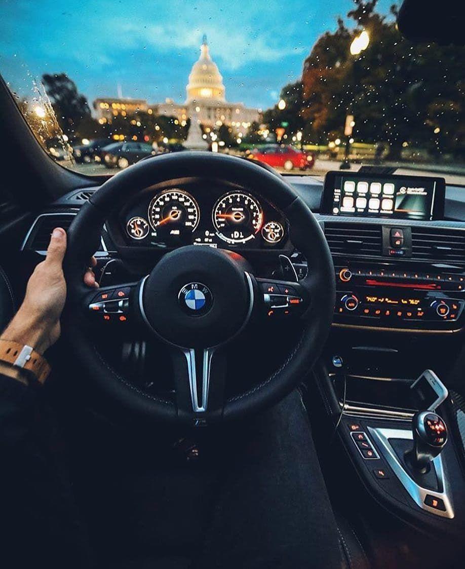 BMW M4 cruising down the roads of Washington DC Credits to