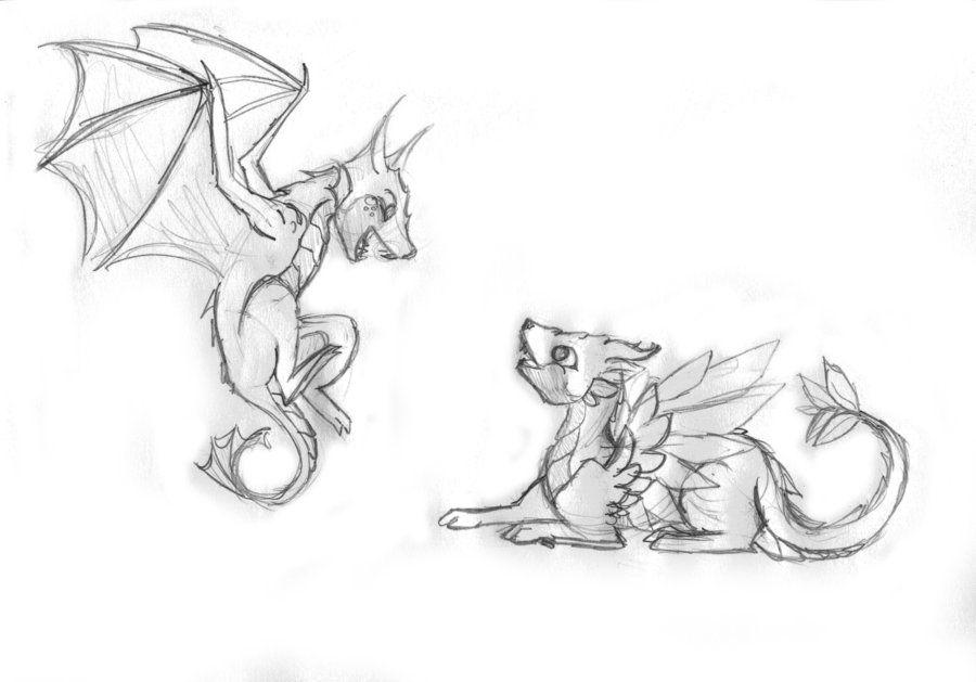 Cute Dragon Sketch by Pinrescent on deviantART   Dragon ...