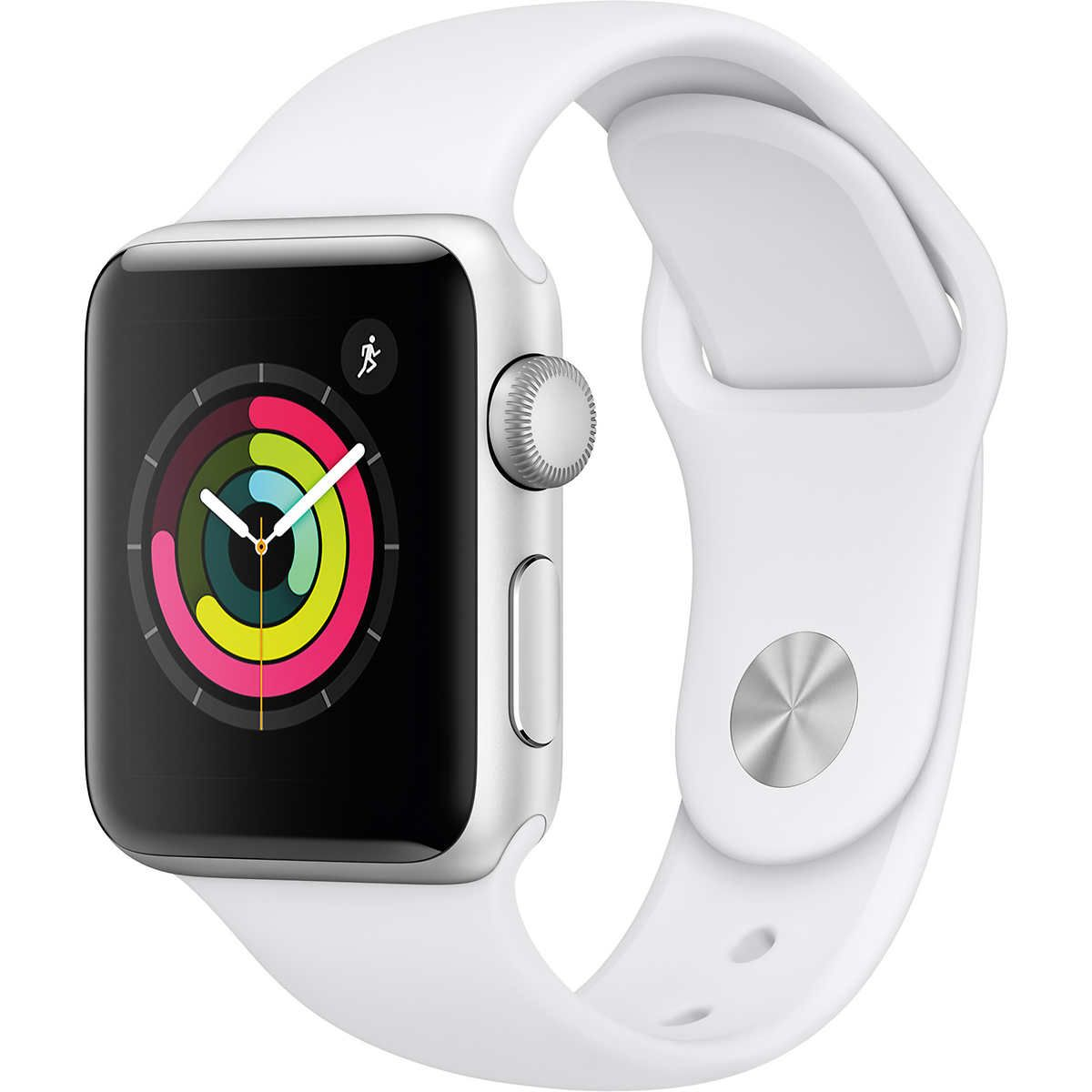 Apple Watch Series 3 Gps 38mm With White Sport Band Silver Buy Apple Watch New Apple Watch Apple Watch