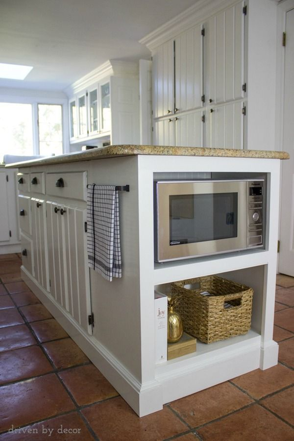 Our Kitchen Island with Microwave: We Added a Buil